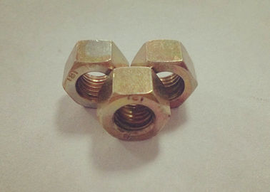 Yellow Zinc Plated M6 Hex Nut 7mm Thickness With Relatively Large Fastening Force